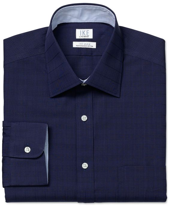 Ike by Ike Behar Non-Iron Check Performance Dress Shirt