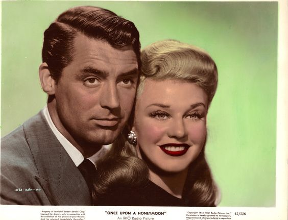 Ginger Rogers and Cary Grant Once Upon a Honeymoon 1942