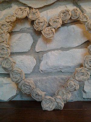 Burlap Heart Wreath - maybe use red burlap?