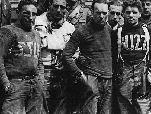 Brand of the Week - Moto Guzzi    Corti, Aldrighetti and Tenni - victory at the Milano-Napoli race, 1936