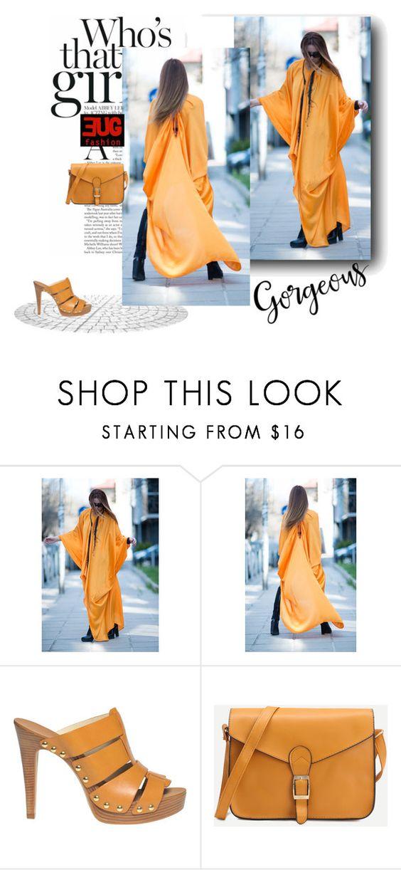 """Orange Chiffon Summer Long Kaftan Dress by EUGfashion"" by eug-fashion ❤ liked on Polyvore featuring MICHAEL Michael Kors and EUGfashion"