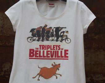 The triplets of belleville Anime Cartoon Women T-shirt