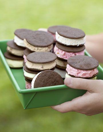 Easy summer dessert: homemade ice cream sandwiches. Get the #recipe for Lemonsicle Ice Cream.