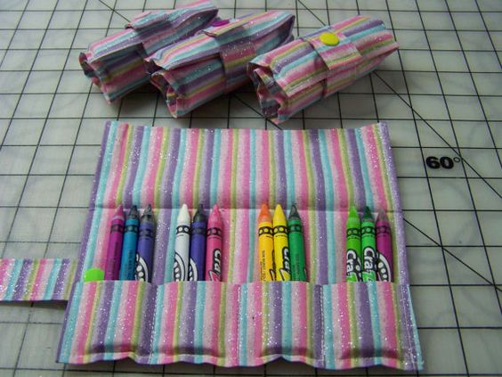 Check out this item in my Etsy shop https://www.etsy.com/listing/478172787/6-girls-crayon-rolls-with-12-crayons