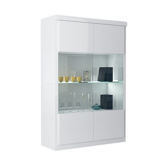 Dabria Large Gl Display Cabinet In