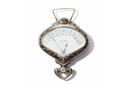 Sector Watch  Art Nouveau Retrograde Record & Co Silver Pocket Watch, Tramelan, Swiss
