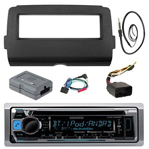 Audio Bundle For 2014-Up Harley Davidson - Kenwood KMR-D365BT Marine CD MP3 iPod Bluetooth Stereo Receiver Combo With Dash Install Kit, Handle Bar Controller for Motorcycle, Enrock 22' Radio Antenna