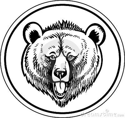 Grizzly Brown Bear Vector