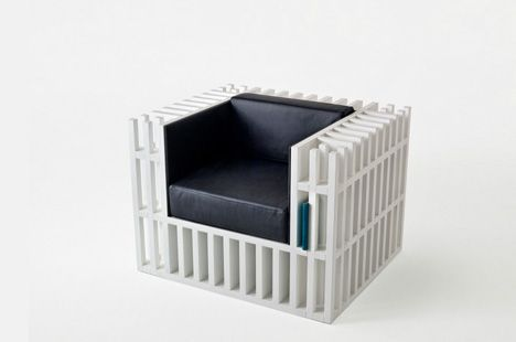 Bookcase + Chair hybrid of awesome.     WANT.