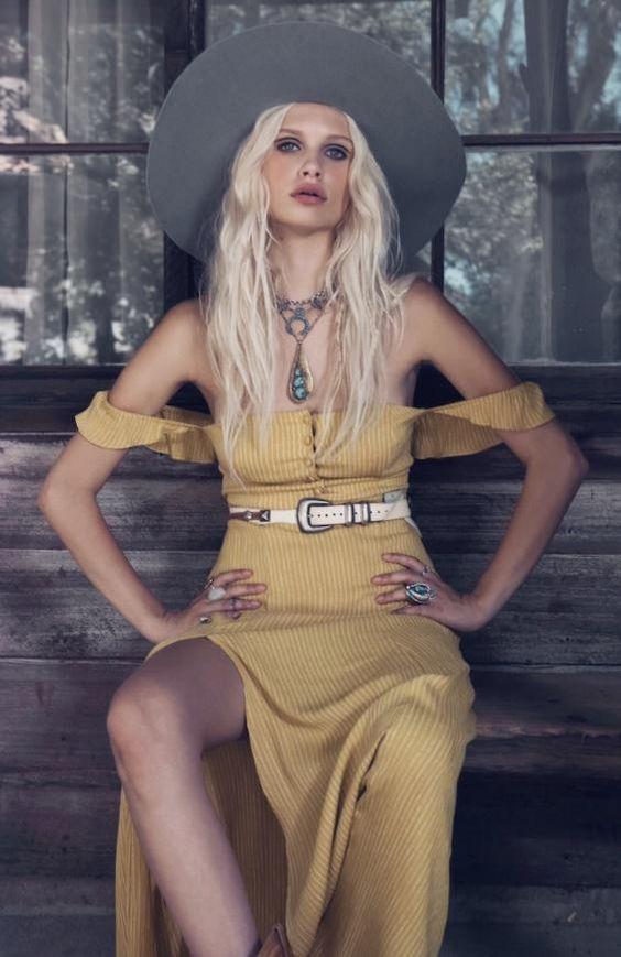 #ethereal #gypsy #boho #70s #offtheshoulder #dress #inspiration