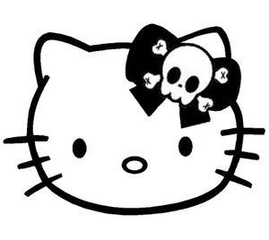 HELLO KITTY SKULL BOW GOTHIC Cute Items Pinterest