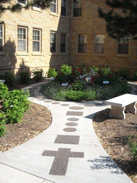 Gardens home and homemade on pinterest for Rosary garden designs