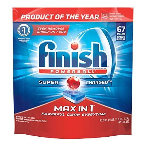 Finish Max In 1 Powerball 67ct Wrapper Free Dishwasher