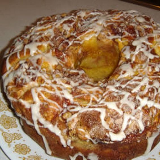 Sour Cream Yellow Cake Mixes And Apple Coffee Cakes On