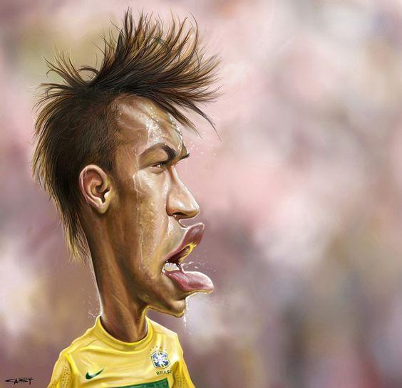 Caricatura de Neymar.