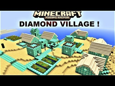 Minecraft PE - VILLAGE NEXT TO MANSION AND RAVINE ! SEED