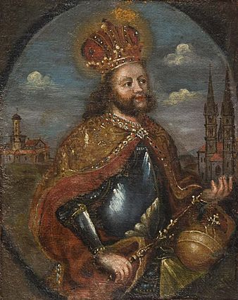 Henry II, Holy Roman Emperor (973-1024) Son of Henry II, Duke of Bavaria and Gisela of Burgundy. Husband to Cunigunde of Luxembourg