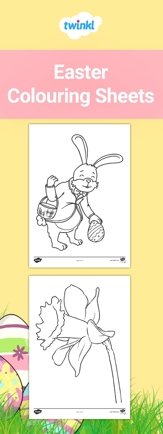 Free Easter Colouring Sheets Easter Colouring Easter Coloring Pictures Easter Coloring Sheets