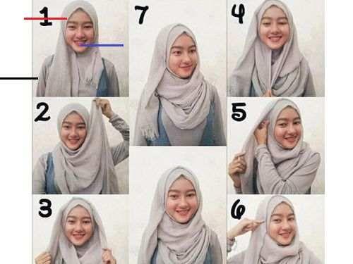 Tutorial Hijab Pashmina Untuk Wajah Bulat Yang Simple Tutorial
