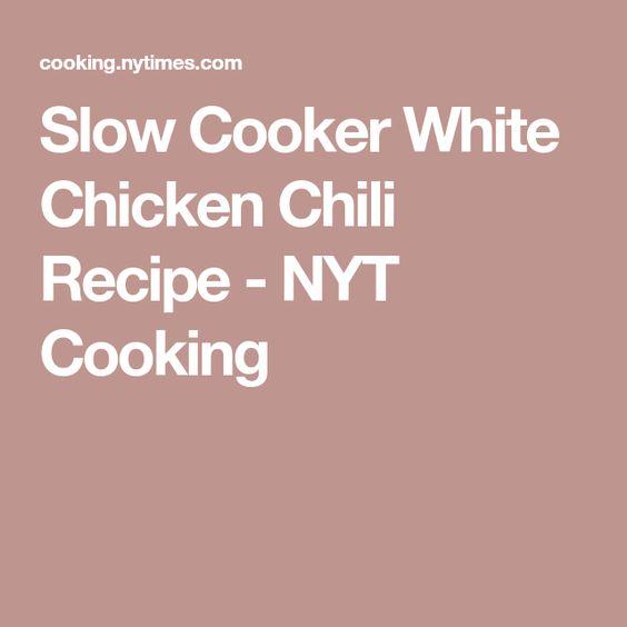 Slow Cooker White Chicken Chili Recipe Recipe Slow Cooker White Chicken Chili Recipe White Chicken Chili White Chicken Chili Slow Cooker
