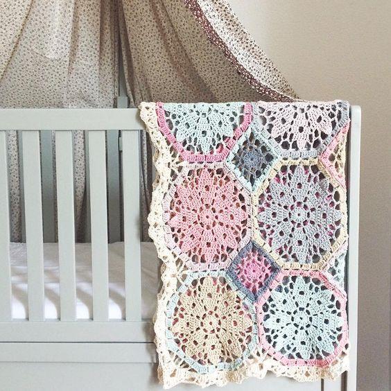 Free Baby Dress Crochet Patterns To Download : Beautiful baby blanket @ Maaike van Koert on Instagram ...