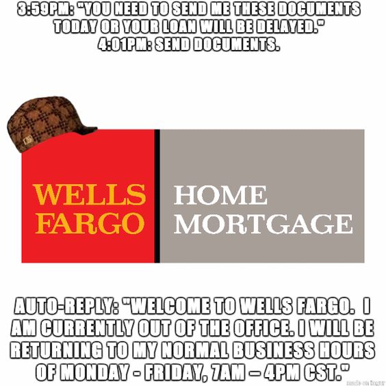 Adventures with Wells Fargo Home Mortgage Part 2: This has happened four times in two weeks.