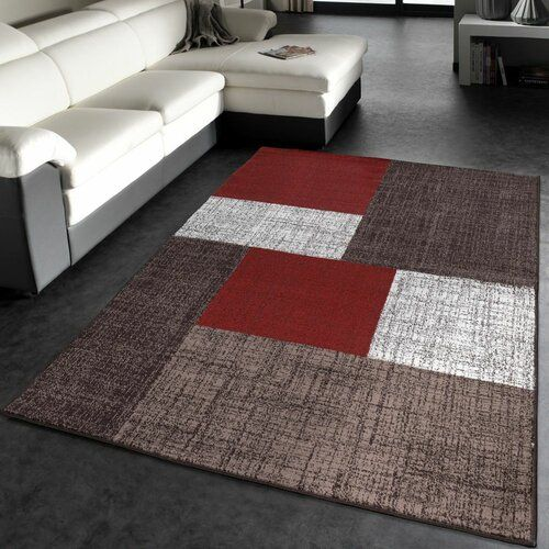 Sherlyn Red Brown White Rug Zipcode Design Size Rectangular 160 X