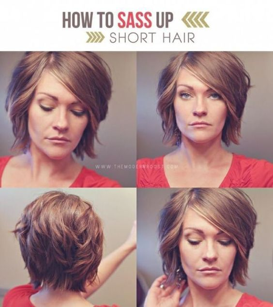 25 Short Hairstyles that'll make you want to cut your hair. I love this sassed up style.