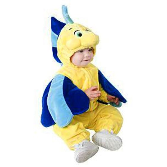 Baby flounder fish costume back to halloween and yellow for Baby fish costume
