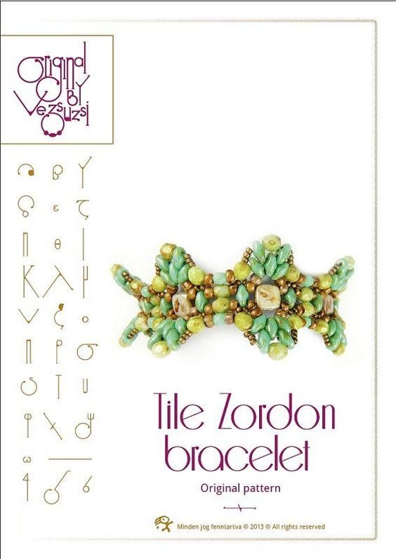 www.bead paterns tiles | Bracelet tutorial / pattern Tile Zordon with superduo beads ..PDF ...