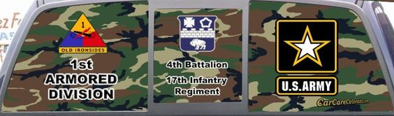 Army 4th Battalion 17th Infantry Regiment Camo Truck Mural
