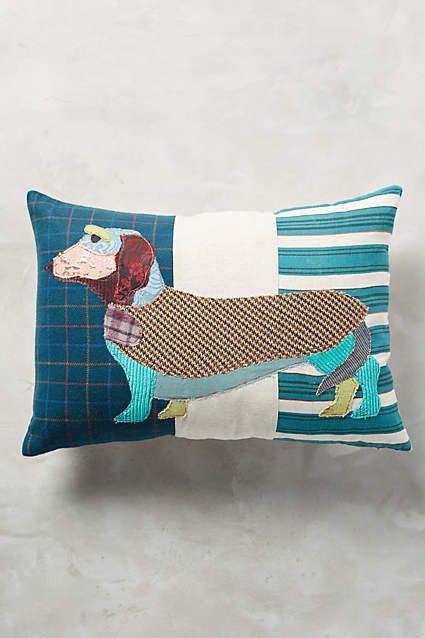 Patchwork Pup Cushions, Dachshund