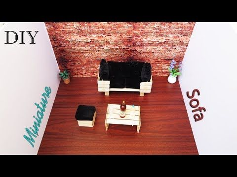 How To Make Sofa Table From Popsicle Stick Project For Kids Youtube Barbie Furniture Tutorial How To Make Sofa Diy Sofa Table