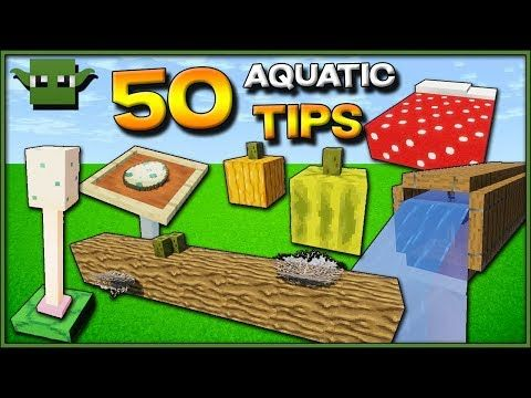 50 Minecraft Aquatic Update Build Ideas 1 13 Youtube With