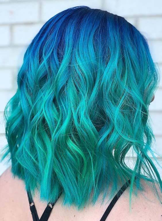 40 Pretty Blue Hair Color Trends For Women 2018 Hair Color Blue