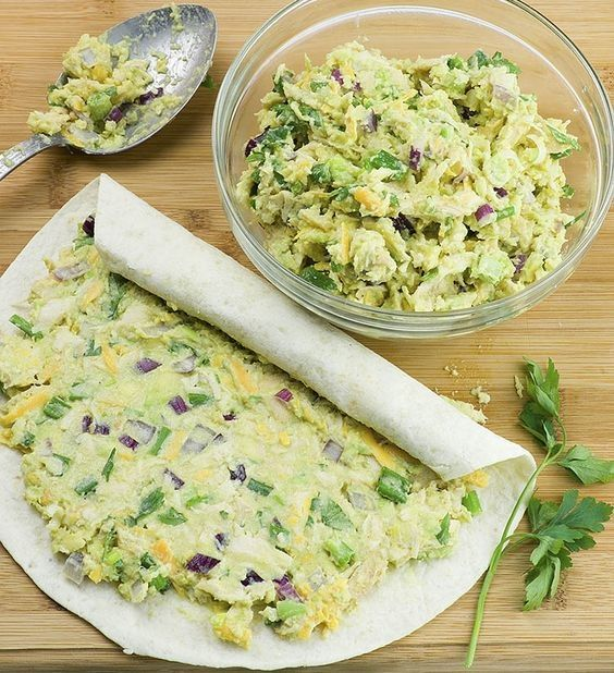 Avocado Recipes | Chicken Avocado Salad Roll Ups