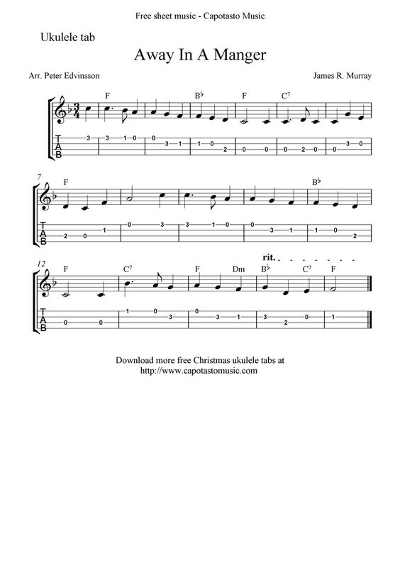 Sheet music, Ukulele and Free sheet music on Pinterest