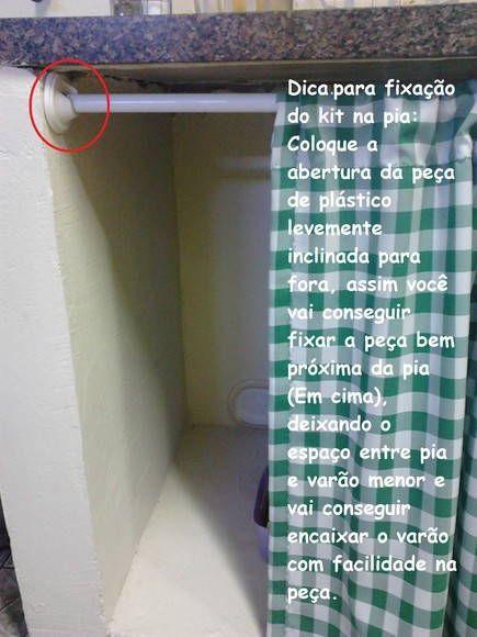 varão para cortina de pia de cozinha - Pesquisa Google: