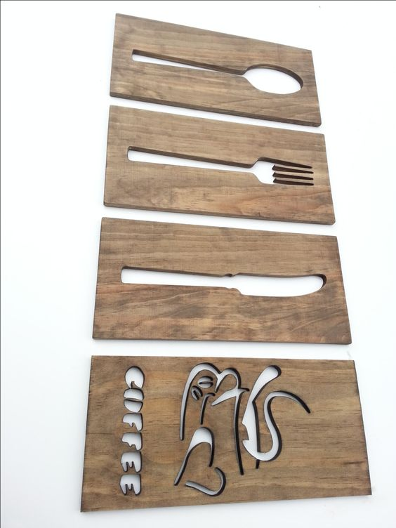 Kitchen Art Sign Plaque Wood Home Decor Unique Wall by SDEtrading, $39.99