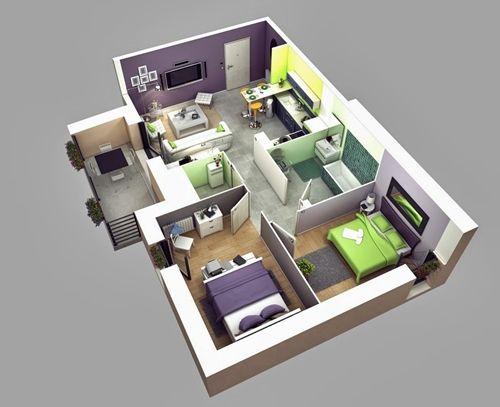 12 Examples Type 36 Home Interior Design For Your Inspiration Andri S Blog Denah Rumah Desain Rumah Rumah Minimalis
