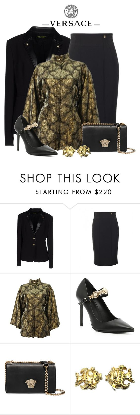 """""""Versace total look"""" by dgia ❤ liked on Polyvore featuring Versace"""