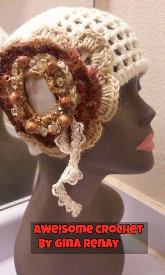 ~ #CROCHET 1 HAT DAILY! ** ~ Day 345 ** AWE!Some Crochet by Gina Renay ImaGINAtions To purchase, send inquiry to  ginarenay@yahoo.com
