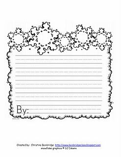 winter writing paper | School lesson ideas | Pinterest ...