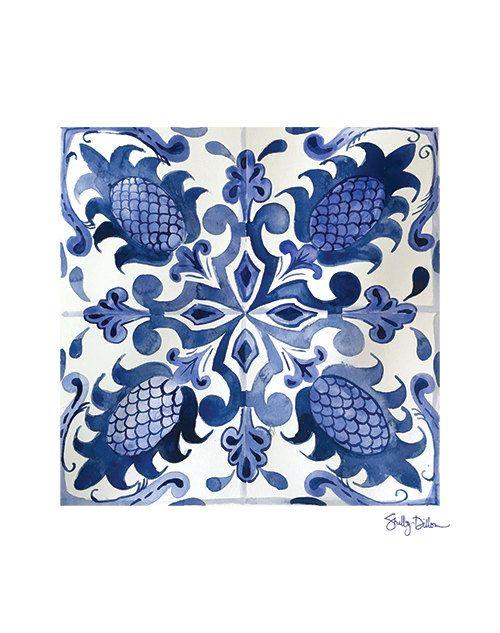 Azulejo de Talavera arte - impresión del arte del azulejo marroquí - mexicana…