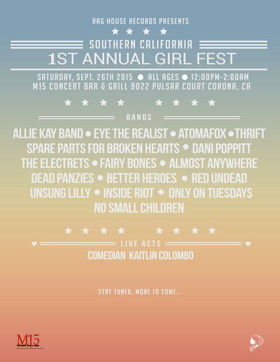 Volunteer to work sound at The Southern California 1st Annual Girl Fest!