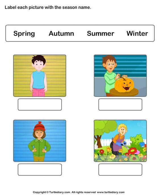 Seasons, Worksheets and Kindergarten on Pinterest