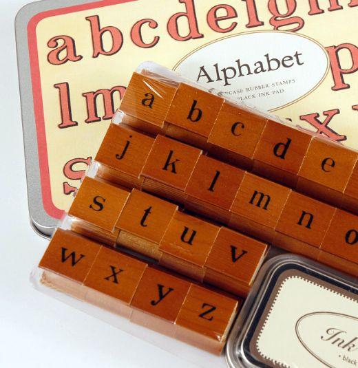 Cavallini Lower Case Alphabet Stamps Set $19.99