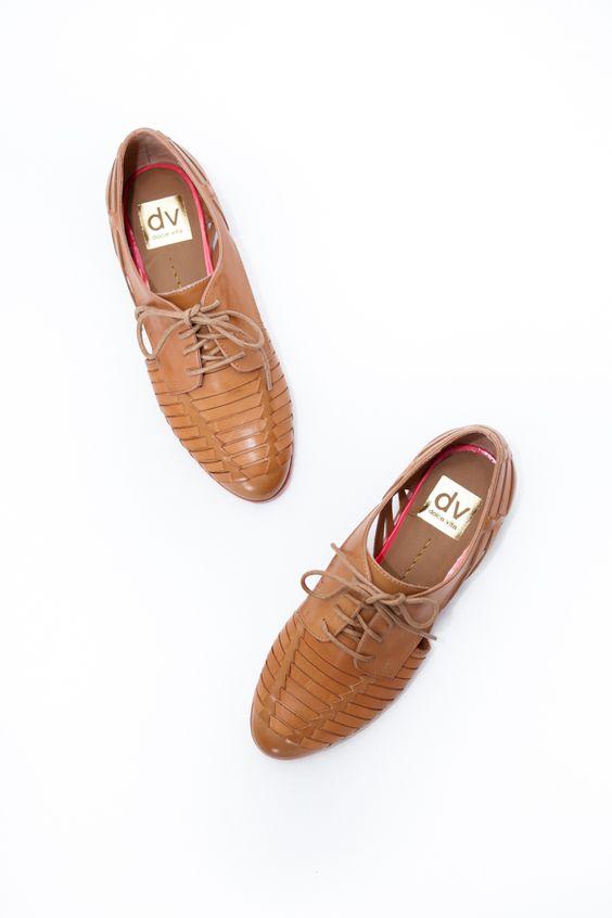 Cut Out Oxford Shoes - @ Parc Boutique