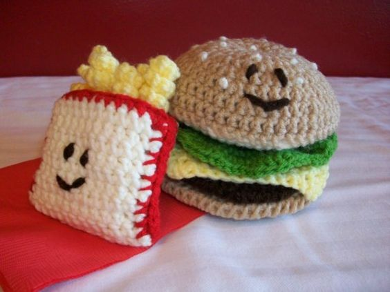 Amigurumi Fast Food : Hamburger Crochet Amigurumi Fast Food Hamburger and by ...