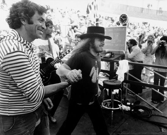 Ronnie Van Zant sporting a Neil Young shirt. | photo credit: pinterest.com